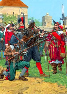 Imperial musketeer and caliverman of the Thirty Years' War