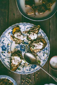 Israeli Couscous Stuffed Eggplant