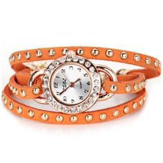 Stylish Design Bracelet Watch with Diamonds Leather and Chain Band for Women #women, #men, #hats, #watches, #belts