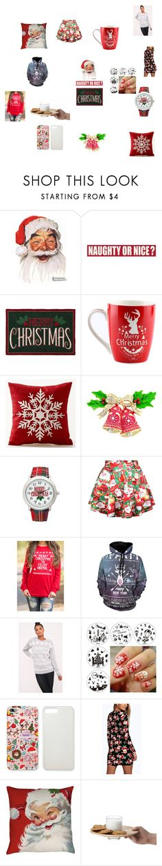"""""""MERRY CHRISTMAS"""" by getlike-amari ❤ liked on Polyvore featuring Sixtrees, St. Nicholas Square and Kim Rogers"""
