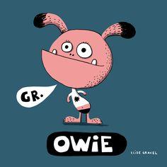 Elise Gravel Illustration • Owie • Pink monster