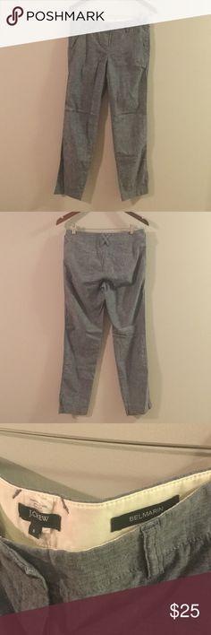 J Crew straight leg linen pants worn once Soft comfy J Crew linen pants. Worn once. J. Crew Pants Straight Leg