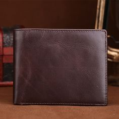 2017 Famous Brand Genuine Leather Short Wallet For Women & Men Vintage Oil Wax Cowhide Wallets Pocket Card Holder Coin Purse New