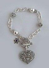 silver plated heavy marcasite bracelet