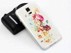 Motyw kwiatowy na etui do Samsunga Galaxy S5:)
