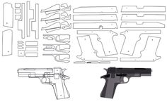 3D Printing, RC, CNC & Laser Projects: blowback rubber band gun