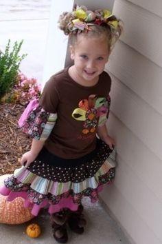 Easy Sew - Alexandria Twirl Ruffle Skirt tutorial - newborn to women's sizes
