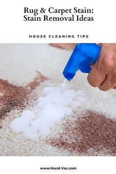 Carpet stains - great ideas on removing many types of carpet stains. It even mentions candle wax. Check out the article. House Cleaning Tips, Cleaning Hacks, Stain Remover Carpet, Removing Carpet, Types Of Carpet, Carpet Stains, Candle Wax, Clean House, Rugs On Carpet