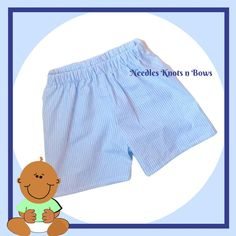 Boys Blue Seersucker Shorts, Baby Boys Light Blue Shorts Baby Boy Newborn, Baby Boys, Seersucker Shorts, Girls Coming Home Outfit, Light Blue Shorts, Baby Bloomers, Babies First Year, Toddler Boy Outfits, Boy Blue