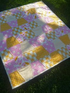 Tumbler Quilt - made for Trier by the beautiful and amazingly talented, Erin. Check her out @ The Spotted Lamb on Etsy.com.