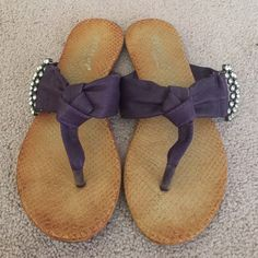 Purple sandals Bow tie sandals with ringtones detail on the side Extreme Shoes Sandals