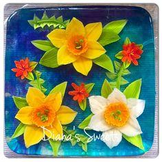 Daffodil floral gelatin art flower