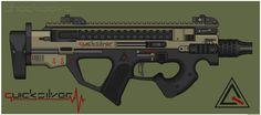 Quicksilver Industries: 'Sphinx' PDW by Shockwave9001.deviantart.com on @DeviantArt