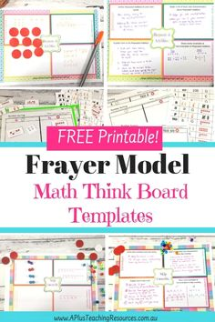 Try a Frayer Model think board! They are the perfect tool for teaching numeracy and getting kids to love learning math. Start the transformation today with a freebie from our website. Teacher Freebies, Classroom Freebies, 2nd Grade Activities, Counting Activities, Math Games, Teaching Math, Teaching Resources, Teaching Ideas, Third Grade Math