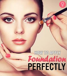 Ladies your foundation is a sure-fire way to achieve flawless skin even on the days your skin is misbehaving. Here's a step by step tutorial on how to apply foundation on your face perfectly. Read on. - April 21 2019 at Flawless Foundation Application, Makeup Tutorial Foundation, Foundation Tips, How To Apply Foundation, No Foundation Makeup, Face Foundation, Perfect Foundation, Makeup Application, Liquid Foundation