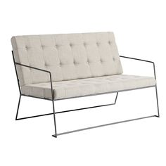 Sofa, metal w/linen fabric, nature Outdoor Sofa, Outdoor Furniture, Outdoor Decor, Linen Fabric, Love Seat, Shabby Chic, Couch, House Styles, Metal