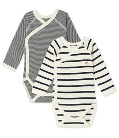 Petit Bateau Set Of 2 Newborn Baby Striped Unisex Bodysuits - 12 M Inches) Striped Bodysuit, Long Sleeve Bodysuit, Unisex Baby, Baby Girl Newborn, Baby Boys, Baby Clothes Shops, Baby Wearing, Pull, Boy Outfits