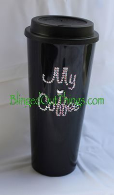 WIN! The Funky Monkey GIVEAWAY: Blinged Out Things: Bling Coffee Travel Mug - Ends 1/25/13