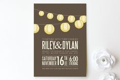 Paper Lanterns Wedding Invitations by Pixel 3 at minted.com