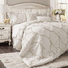What kind of bedroom decor do you favor? The days when the bedroom had to be crisp clean simple and . Read Sweet Shabby Chic Bedroom Decor Ideas to Fall in Love With Shabby Chic Bedrooms, Shabby Chic Homes, Shabby Chic Furniture, Shabby Chic Decor, White Furniture, Furniture Ideas, Shabby Chic Bedding Sets, Country Bedrooms, Cheap Furniture