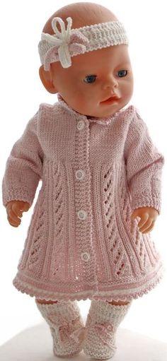 puppenkleid stricken anleitung - Ein hübsches Outfit für eine Schöne Puppe!
