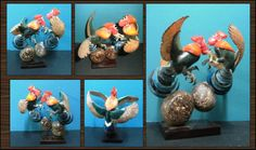 Pelea de gallos, hecho en tagua- Disponible en Weil Art