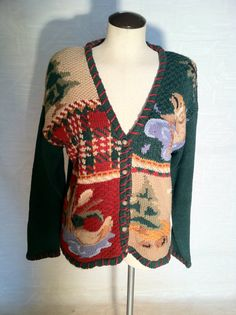 NOT an Ugly Christmas Sweater Hand Knitted Cardigan by pdee5069, $10.69