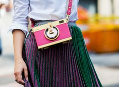Pictures & Pleats from Street Style at New York Fashion Week Spring…