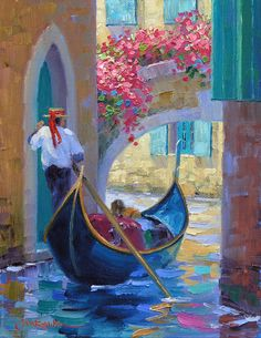 Romance of Venice 12″ x 10″ Original Oil Painting