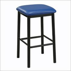 """Regal 1174 Steel Square 30"""" Backless Barstool by Regal. $110.99. Regal 1174 Beautifully crafted and highly functional, the Paulo backless stool is the ideal addition to any bar or social space. It's padded seat adds an extra layer of comfort, for you or your guests, and is available in a bevy of fabrics, to suit any decor. Features: -Frame availabe in Black, Bronze, Anodized Nickel or Clear finish -Seat height: 30"""" -Overall dimensions: 30""""H x 18"""" W x 18"""" D -1 year limite..."""