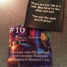 #lunchnotes Day 84 #fish #tank #jokes #disney #funfacts #monstersinc by dggassett