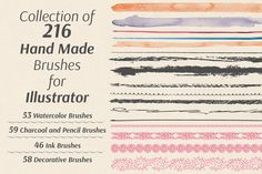 Collection of Hand Made Brushes by Anna Ivanir on Creative Market