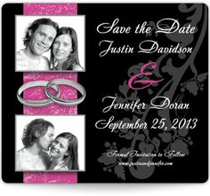 Save the Date Magnets - Photos and Rings | MagnetStreet
