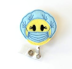 Surgery Sue  Anesthetist Gifts Surgical Tech Gift  Operating Room Nurses  OR Nurse Badge Reels  Scrub Mask Felt Badge Clip  by BadgeBlooms
