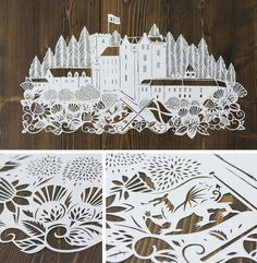 Amazing papercuts by Emily Hogarth