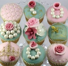 cupcake para festa de 15 anos