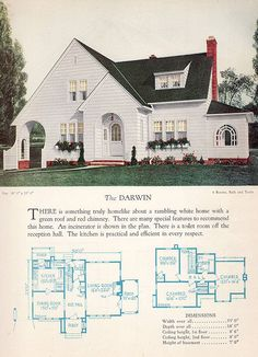 1928 Home Builders Catalog - The DarwinVintage home plan