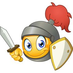 When you're feeling chivalrous or want to do verbal battle with a known foe, this armor-clad smiley is your ticket to awesome communication. Animated Emoticons, Funny Emoticons, Funny Emoji, Smiley Emoji, Emoji Love, Cute Emoji, Excited Emoticon, Dancing Emoticon, Finger Emoji