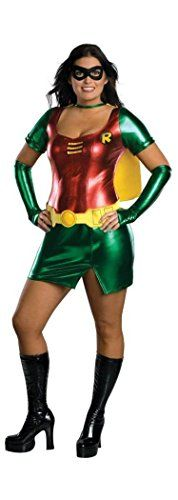 [halloween batman costumes couples] Robin Adult Costume - Plus Size >>> Continue to the product at the image link. (This is an affiliate link) #halloweenbatmancostumescouples