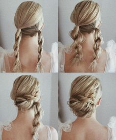 Gorgeous and Easy Homecoming Hairstyles Tutorial For women with medium shoulder length to long hair. These hairstyles are great for any occasion whether you just want quick and casual or simple yet elegant wedding hairstyles ,prom hair, Braided hairstyles Medium Hair Styles, Curly Hair Styles, Easy Updos For Medium Hair, Simple Braided Hairstyles, Easy Braided Updo, Medium Length Hair Updos, Easy Ponytail Hairstyles, Updos For Thin Hair, Shoulder Length Updo
