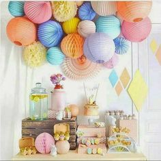 Wonderland of pretty pastels | 10 Delightful Dessert Table Ideas - Tinyme Blog