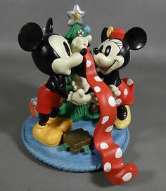 Disney 1995 Christmas at Our House Mickey & Minnie Mouse Trimming the Tree