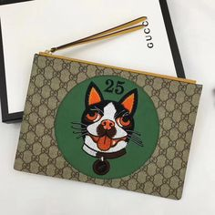 3917b90ae9ab Gucci GG Supreme Pouch Bag With Bosco Patch 506280 Green 2018 Gucci Outlet  Online, Gucci