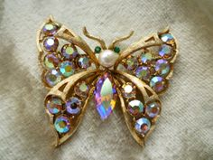 Coro Iridescent Butterfly Pin/Brooch by coroloco on Etsy, $60.00