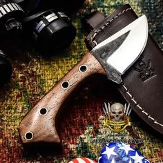 ALONZO KNIVES USA CUSTOM HANDMADE TACTICAL SKINNER 1095 KNIFE ROSE WOOD 3290 #AlonzoKnives