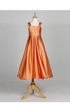 Sweet Sleeveless Satin Wedding/Evening Flower Girl Dress