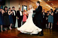 Bride and Groom first dance at the Midtown Loft & Terrace wedding venue