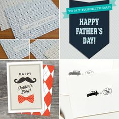 Free printable Father's Day cards! #fathersday #cards #freebies
