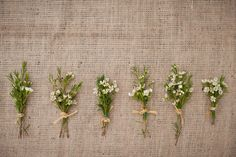 Southern weddings - herb boutonnieres