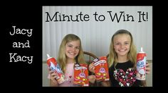 Minute to Win It ~ Valentine Edition ~ Jacy and Kacy